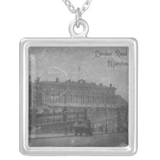 London Road Station, Manchester, c.1910 Silver Plated Necklace