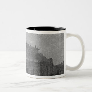 London Road Station, Manchester, c.1910 Two-Tone Coffee Mug