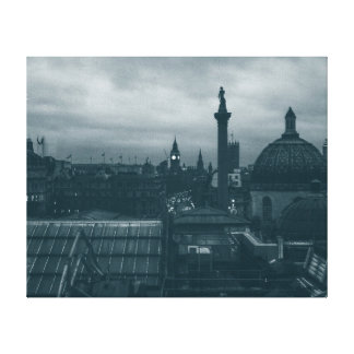 London Rooftops Stretched Canvas Print