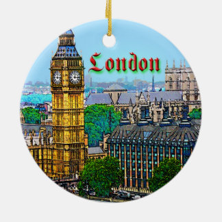 London Round Ceramic Decoration