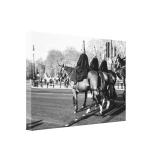 London Royal Guards on Horses, The Mall Stretched Canvas Print