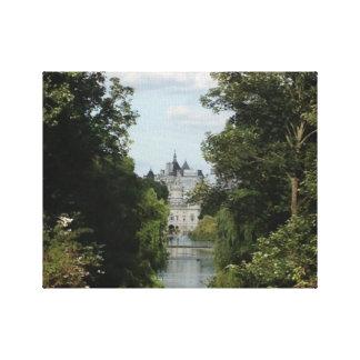 London, Saint James' park scene Stretched Canvas Print