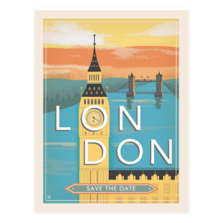 London | Save the Date Postcard
