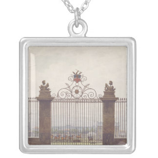 London scene, 1815 silver plated necklace
