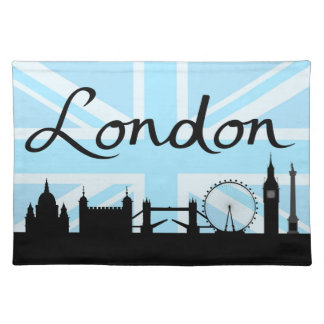 London Script on Union Jack Sky & Sites Placemat