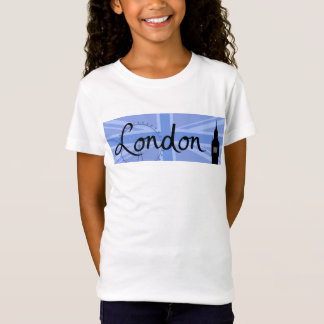 London Script & Union Jack Sky & Sites T-Shirt