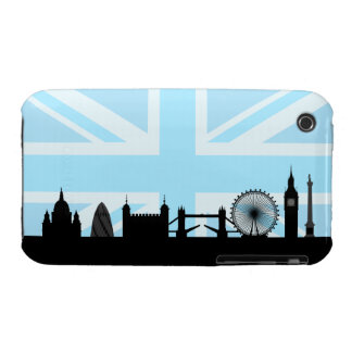 London Sites on Blue Union Jack Sky iPhone 3 Cases