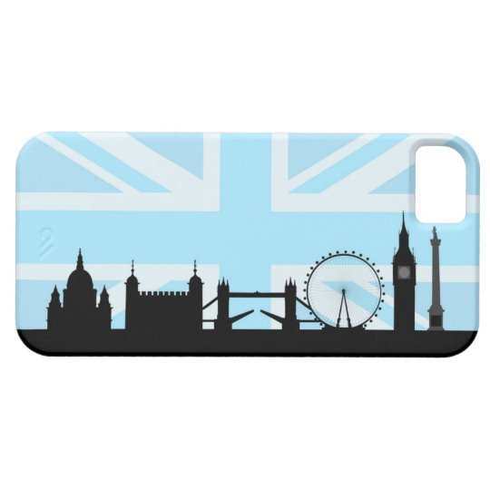 London Sites on Blue Union Jack Sky iPhone 5 Cover