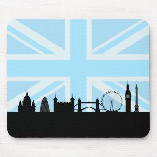 London Sites Skyline and Blue Union Jack/Flag Mouse Pad