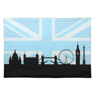 London Sites Skyline and Blue Union Jack/Flag Placemat