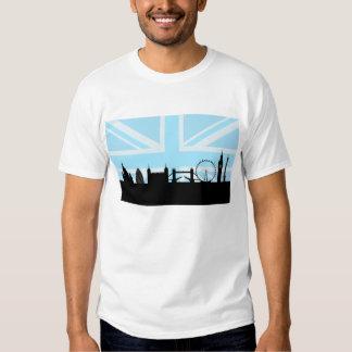 London Sites Skyline and Blue Union Jack/Flag Tee Shirt