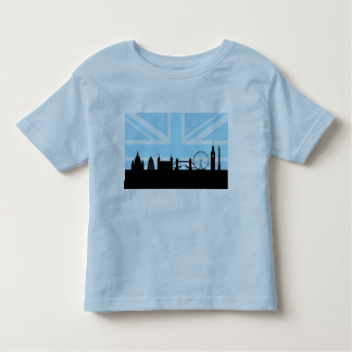 London Sites Skyline and Blue Union Jack/Flag Toddler T-Shirt