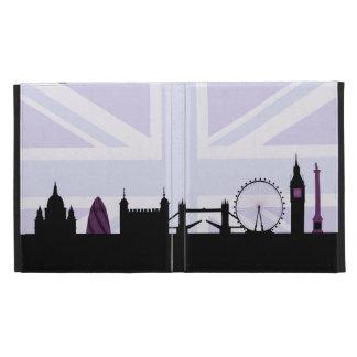 London Sites Skyline & Union Jack/Flag Purples iPad Case