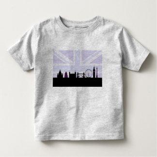London Sites Skyline & Union Jack/Flag Purples Tee Shirt