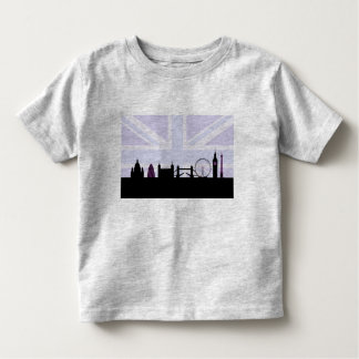 London Sites Skyline & Union Jack/Flag Purples Toddler T-Shirt