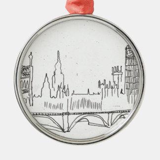 London Sketch Christmas Ornament