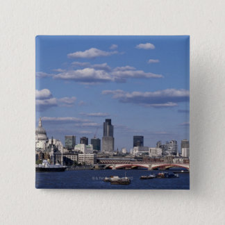 London Skyline 15 Cm Square Badge