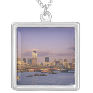London Skyline 2 Silver Plated Necklace