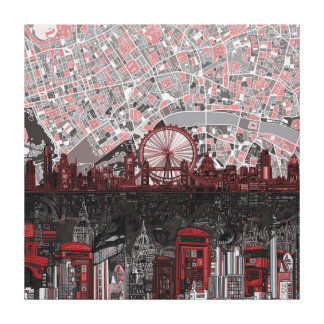London skyline abstract stretched canvas print
