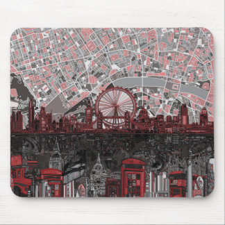 london skyline abstract mouse pad