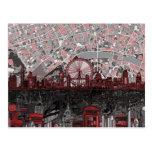 london skyline abstract postcard
