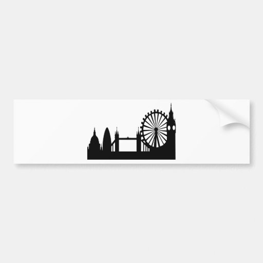 London Skyline Bumper Stickers