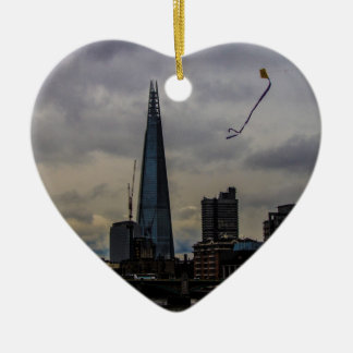 London Skyline Ceramic Heart Decoration