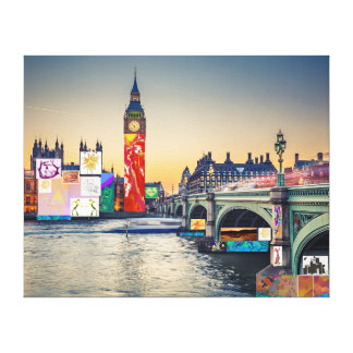London Skyline Collage 3 inc Big Ben, Westminster Canvas Print