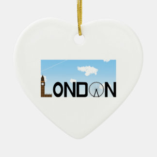 London Skyline Daytime Christmas Ornament