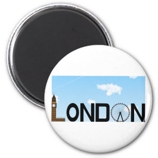 London Skyline Daytime Magnet