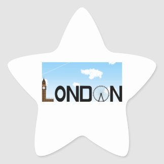 London Skyline Daytime Star Sticker