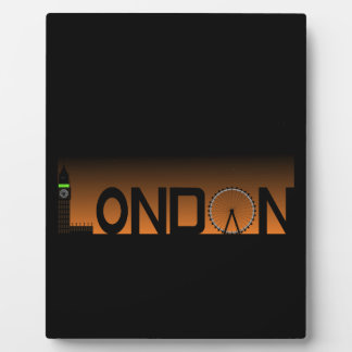 London skyline display plaque