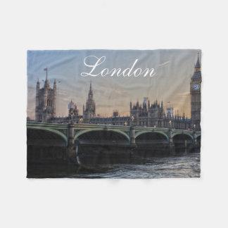 London Skyline Fleece Blanket