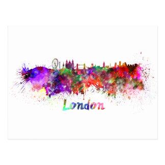 London skyline in watercolor