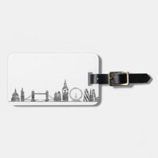 London Skyline Luggage Tag