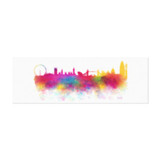 London Skyline Modern Watercolour Canvas Print