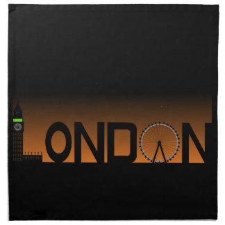 London skyline napkin