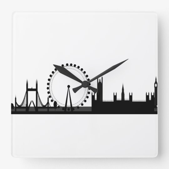 London Skyline Picture Black & White London Clock