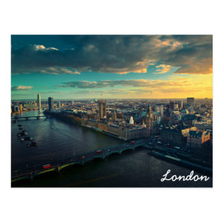 London skyline postcard