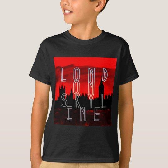 London skyline red black T-Shirt