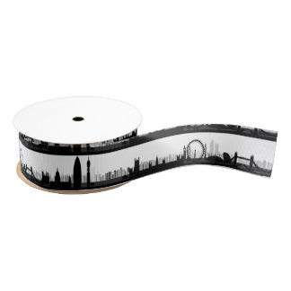 London Skyline Ribbon Grosgrain Ribbon