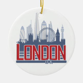 London Skyline Round Ceramic Decoration