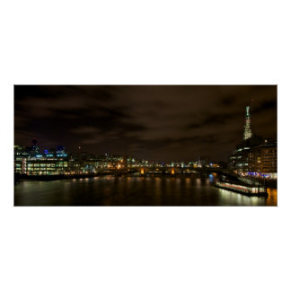 London skyline showing the Shard Poster