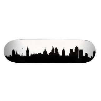 London skyline silhouette cityscape 21.6 cm old school skateboard deck