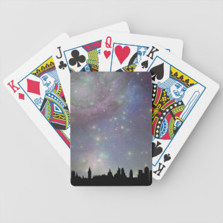 London skyline silhouette cityscape bicycle playing cards