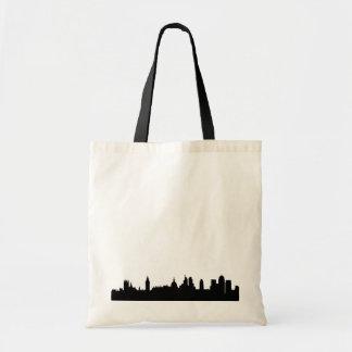 London skyline silhouette cityscape budget tote bag