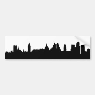 London skyline silhouette cityscape bumper sticker