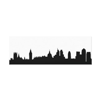 London skyline silhouette cityscape gallery wrapped canvas