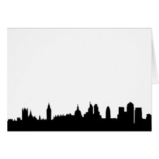 London skyline silhouette cityscape card