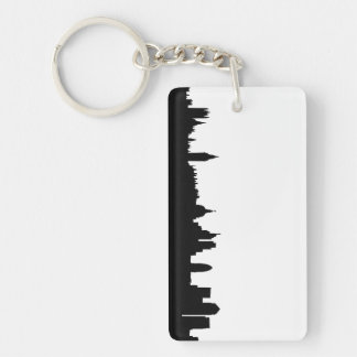 London skyline silhouette cityscape acrylic keychain